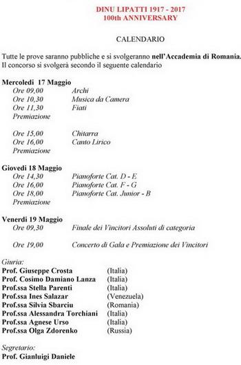 Calendario Rumeno.Prossimi Eventi